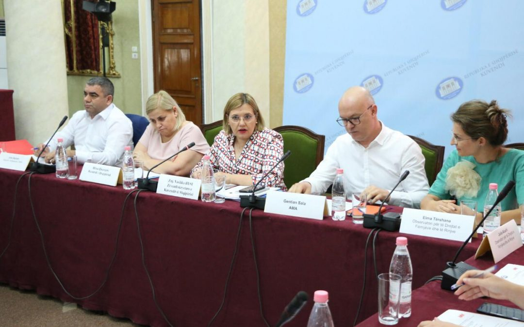 "Albanian Parliament and AMA organize a round table on ""Children in audiovisual media"""